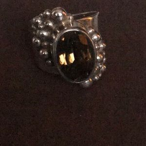 Gorgeous Topaz and Silver 925 Ring sz 7